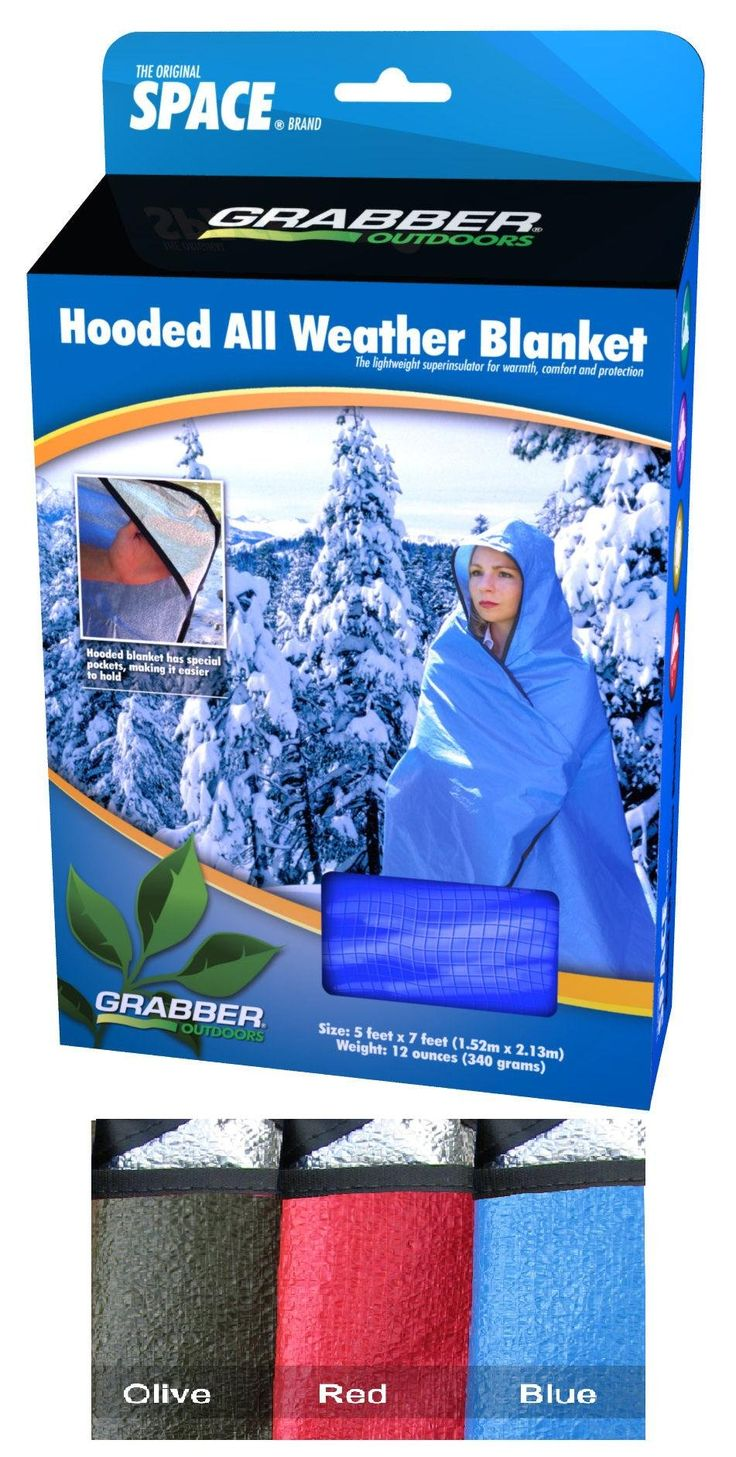 A nice mid-weight blanket – not so heavy that it takes up a lot of room in your car trunk, and it's good for hiking. Plus, it has grommets, so it can double as an emergency shelter or for any other sheltering use.