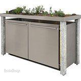 Mülltonnenbox mit Granitpfosten & Pflanzenwanne 2x120 und 1x 240l: Amazon.de: Garten