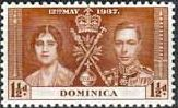 Dominica 1937 King George VI Coronation Set Fine Mint SG 96 8 Scott 94 6 Other Dominica Stamps for Sale HERE
