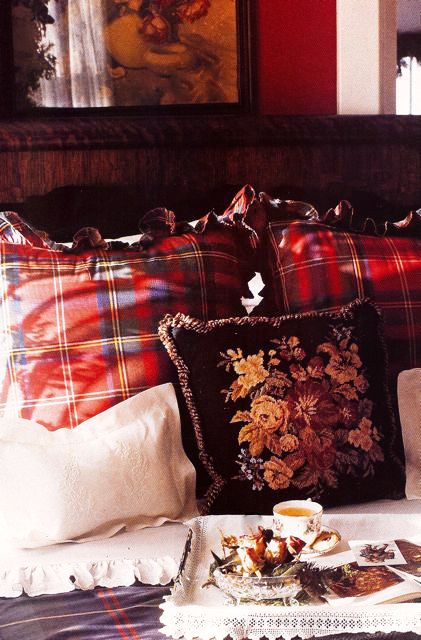Love plaid and needlepoint too!!*