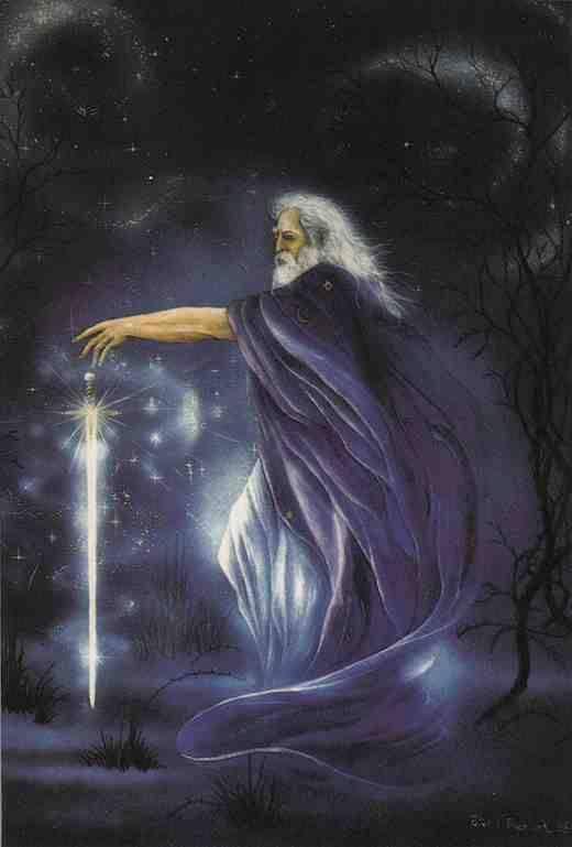 MERLÍN Es el mago más famoso de la historia. Personifica diferentes arquetipos del mundo mítico celta; como el druida, el bardo, el hombre salvaje, el chamán y el profeta.