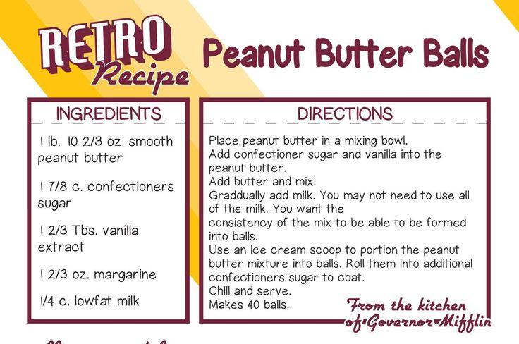 Governor Mifflin School District Peanut Butter Balls