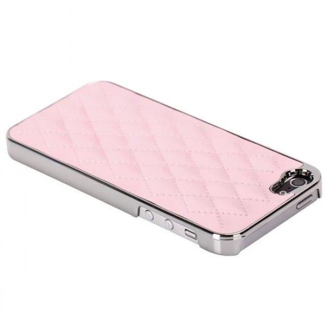 Rio - Chrome Edge (Vaaleanpunainen) iPhone 5S Suojakuori - http://lux-case.fi/rio-chrome-edge-vaaleanpunainen-iphone-5-suojakuori.html