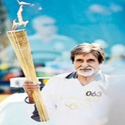 Legendary Bollywood actor Amitabh Bachchan has said that he would love to visit Pakistan to carry the Olympic flame if ever the Olympic games were held in Pakistan.
