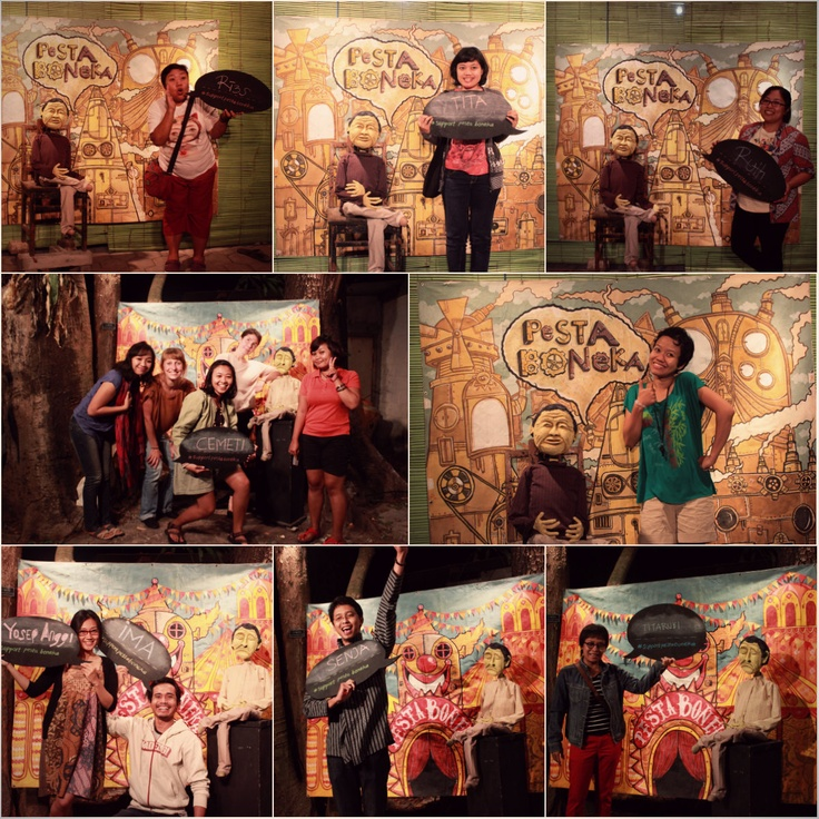 we support #pestaboneka    Fundraising of PESTA BONEKA#3 & Warming Play before USA Tour! #papermoonpuppettheatre #jogjakarta