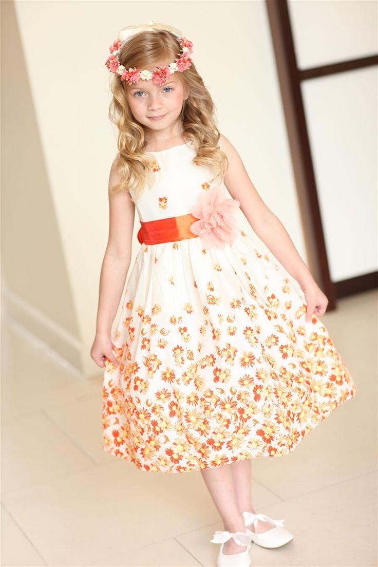 Cotton summer flower girl dresses