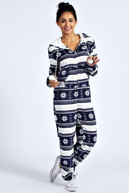 A great Christmas gift for Friends & Family or yourself! Only $20.00! —  Snuggle Supersoft Hooded #Onesie, A onesie is this season's most-wanted warmer