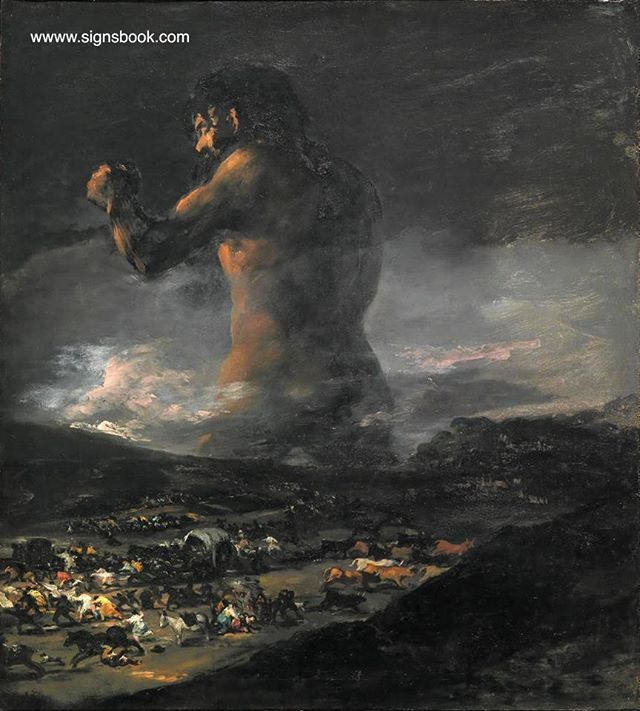 Goya - Fine Art Print Drawings /& Print Reproductions: The Colossus The Giant