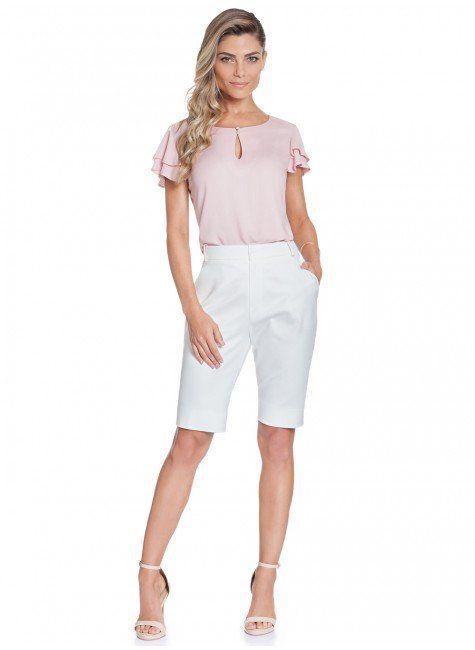 206eaa120 blusa feminina manga com babado rose principessa veridiana frente total