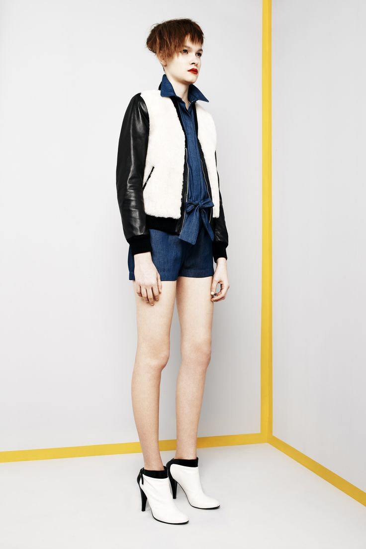 Look 12. Top Gear Bomber & Cabriolet Playsuit.