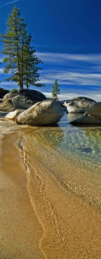 Tahoe lake, California, USA