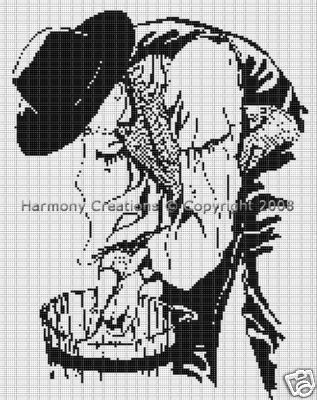Bead Pattern Western Old Cowboy Farmer Washing Loom Stitch 025. This is a digital pattern and will be available for download as soon as payment is received. This pattern is a PDF document and you will need Adobe Reader to view it, which can be downloaded for free at www.adobe.com