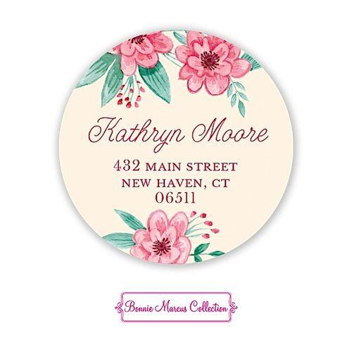 Vintage Baby Banner (Pink) Return Address Sticker   Notepourri