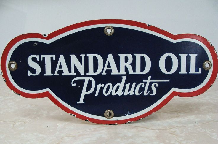 Standard Oil Products Vintage Porcelain Sign  (Antique Service Station Gas Signs)