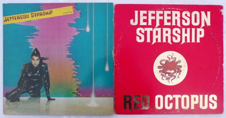Jefferson Starship - Red Octopus  '75 & Modern Times '81 Vinyl LP GRUNT Records  #FolkRockAcidRock