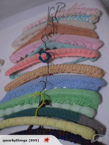Vintage Crocheted Covered Coat Hangers