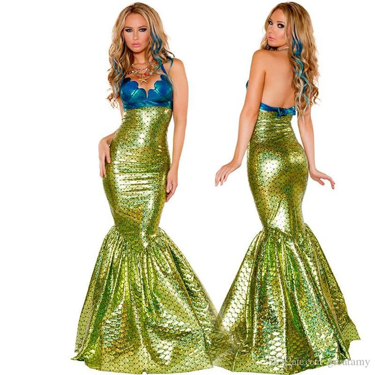 2016 Girls Role Playing Mermaid Costume Dress Big Girl Mermaid Dress Up…