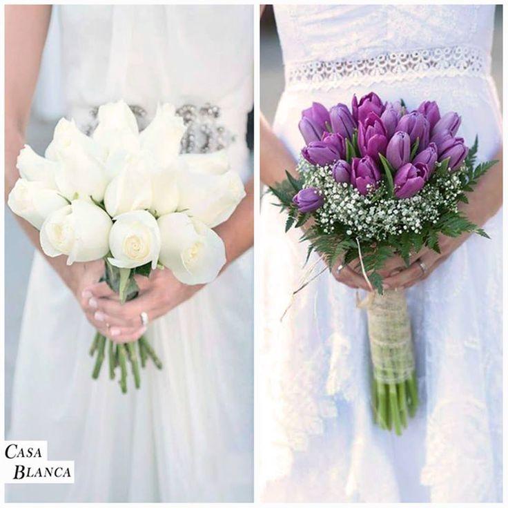 Un ramo #Blanco o #Colorido ¿ Cuál prefieres tu ? Descubre nuevas ideas y más ramos de novia en nuestro tablero de Pinterest→ http://bit.ly/1G8WwOR