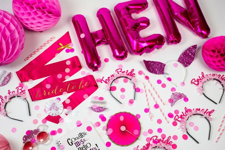 Pink Hen Party Accessories And Where To Buy Them For A Classy Pink Hen Party Theme