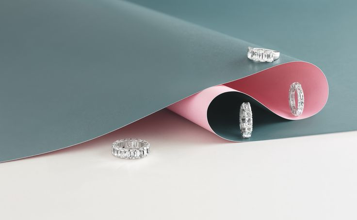 Boodles Ashoka cut diamond rings.
