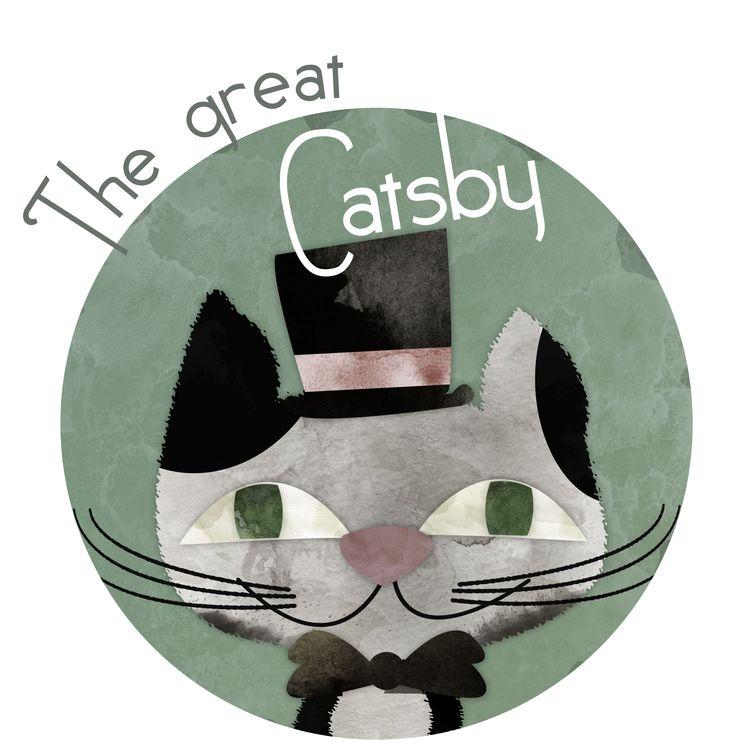 El gran Catsby - The great Catsby  Proyecto de ilustración de la novela El gran Gatsby.  #Ilustracion #illustration #niños #infantil #children #enfants #libro #book #livre