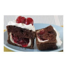 PHILLY Blackforest Stuffed Cupcakes- Also can use any flavored pie filling in white cupcakes.