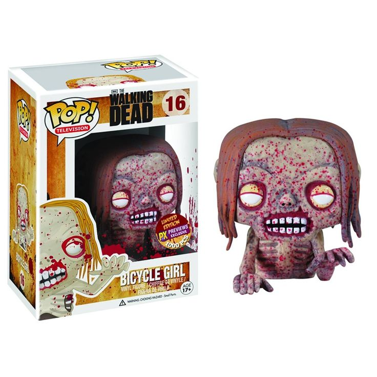 The Walking Dead Pop! Vinyl Figure Blood Splattered Bicycle Girl [Previews Exclusive] - Funko Pop! Vinyl - Category