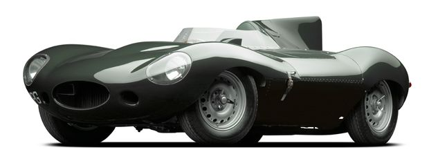 "JAGUAR XKD, 1955 from Ralph Lauren's personal collection now on exhibit  ""The Art of the Automobile"""