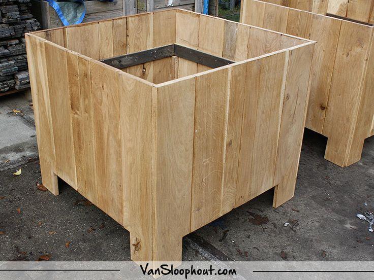 25 beste idee n over houten plantenbakken op pinterest for Houten tuinkast intratuin