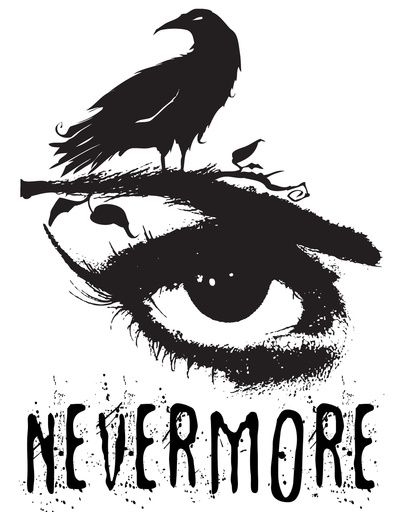Edgar Allan Poe Inspired Design - The Raven Nevermore Art Print