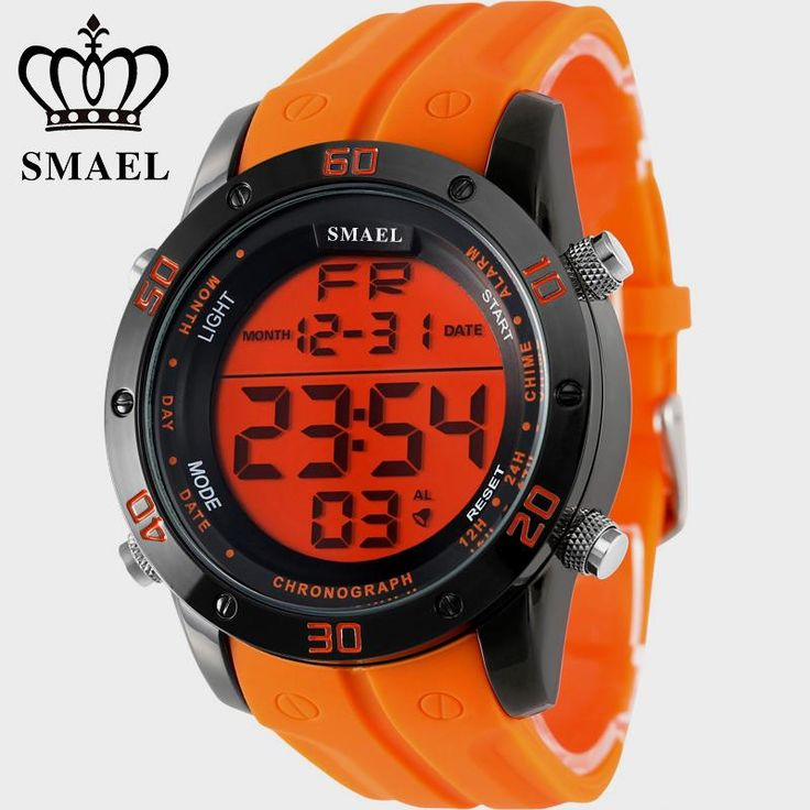 Fashion Casual Watches Men Orange LED Digital Watches Sports Alloy Clock Male Automatic Date Watch Army Men's Wristwatch WS1145 Like if you are Excited!  #shop #beauty #Woman's fashion #Products #Watch