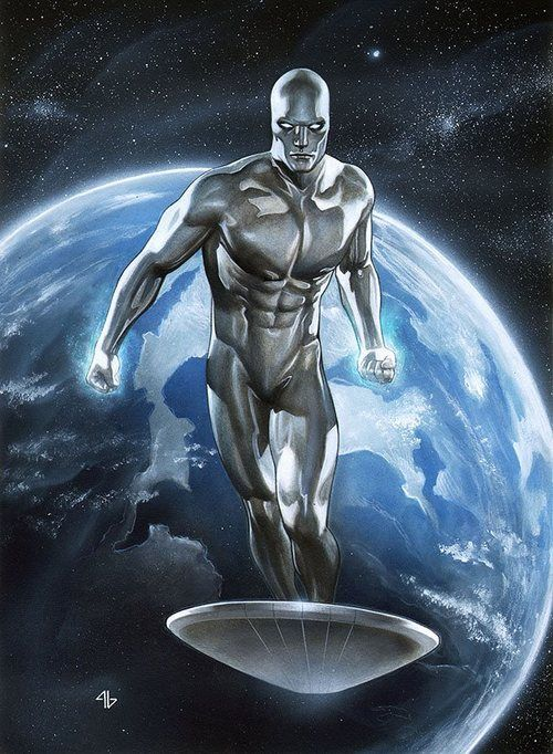 Adi Granov - Silver Surfer These powers are that of the power cosmos!