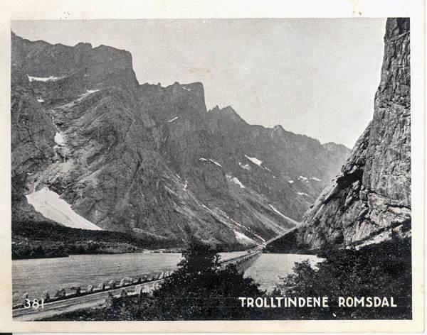 SAMLERKORT KNEIPPBRØDFABRIKKEN 1935/38 - 381 TROLLTINDENE