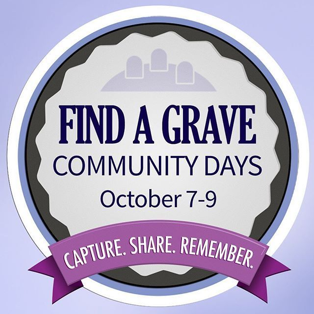 Circle Friday, October 7-Sunday, October 9, on your calendar for Find A Grave Community Weekend!  Were hosting meet-ups across the globe to help fulfill thousands of photo requests. Plus, who doesnt want to meet others who share our love of cemeteries?