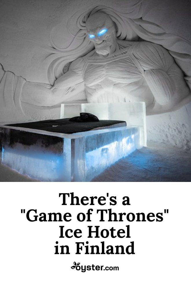 Head way up north (we're talking above the Arctic Circle) to the Kittilä resort area of Lapland, Finland, and you'll find a new GOT-themed ice hotel in Lapland Hotel's SnowVillage.