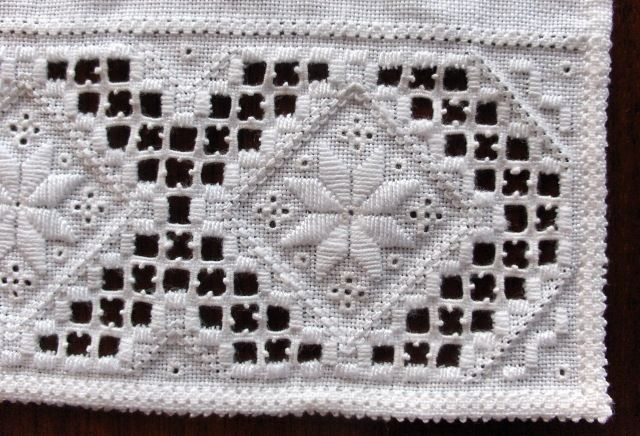 Details, Hardanger embroidery for the traditional costume (bunad) from the Hardanger region, Norway.
