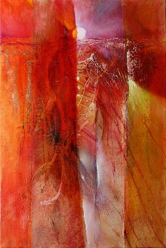 red moon abstract by Lisa Star