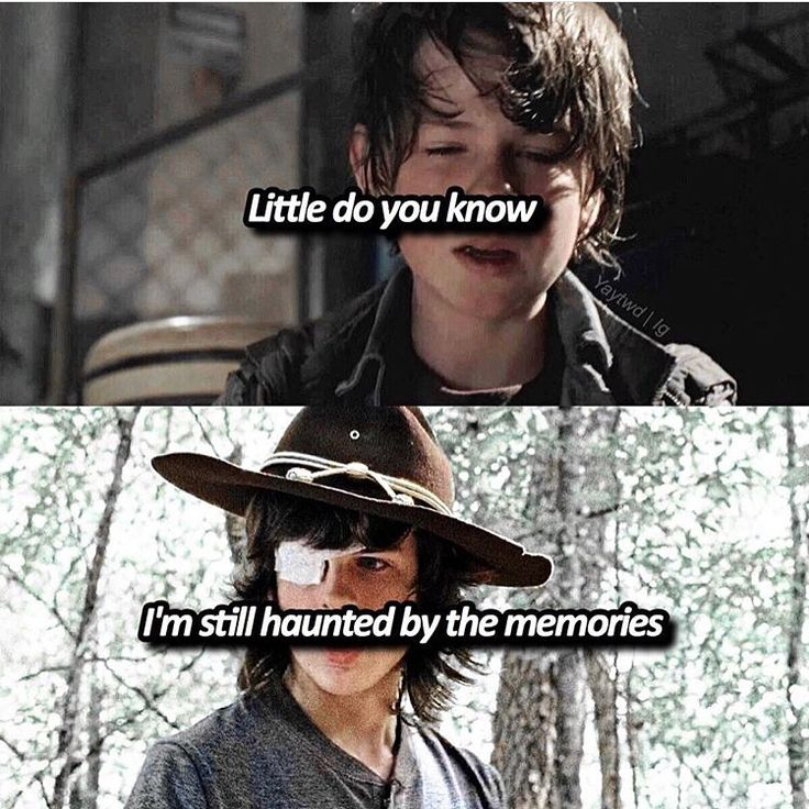 "#TheWalkingDead  Carl Grimes(Chandler Riggs)  ""Little do you know, I'm still haunted by the memories"""