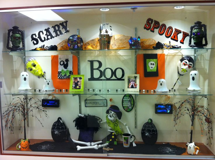halloween display window fun st johns gift shop - Halloween Display Ideas