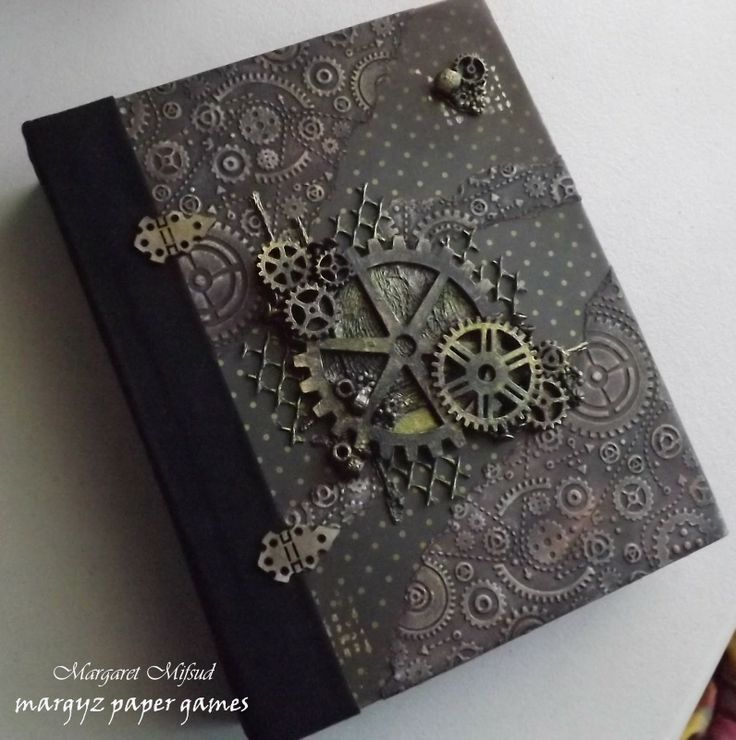 Album cover: Margyz Paper Games: Mini Album using Kaisercraft Papers