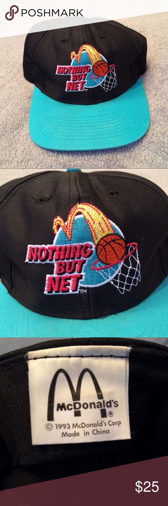 Vintage 1993 McDonalds nothing but net SnapBack Vintage McDonald's Accessories Hats