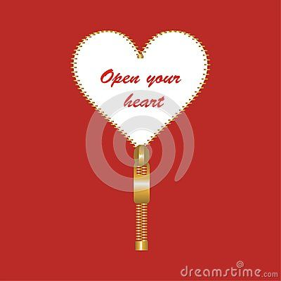 #heart shaped #fastener with open your heart #message