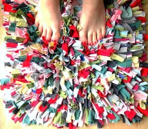 A DIY rug, means you can add as much colour as you want.