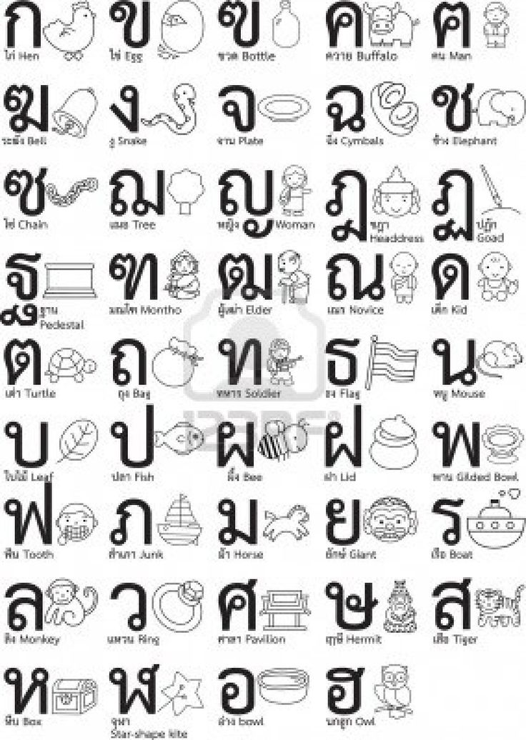 50 best Thai alphabet images on Pinterest Learn thai language - thai alphabet chart