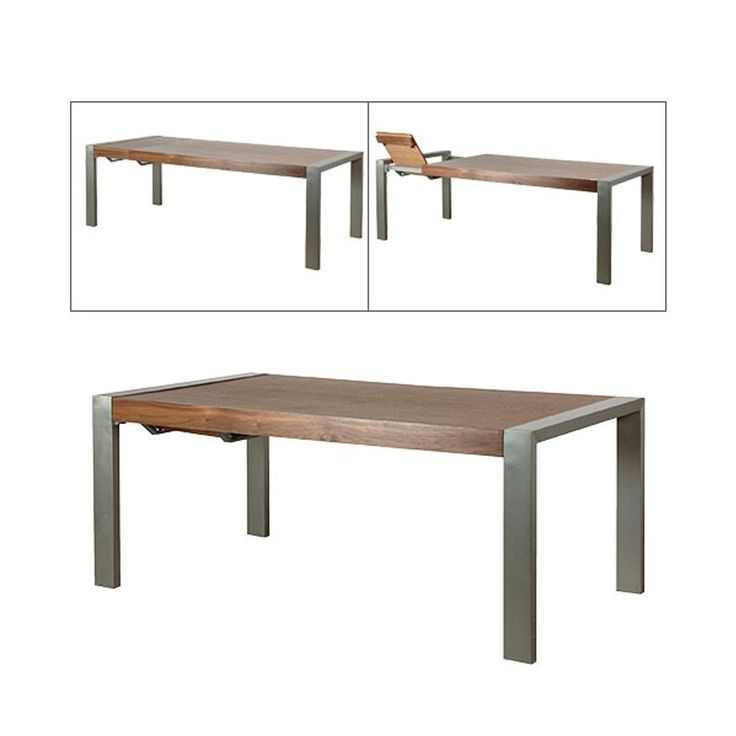 Aria Wooden Dining Table with Chrome Legs available at Casa Uniqua #Chrome #Wood #Dining