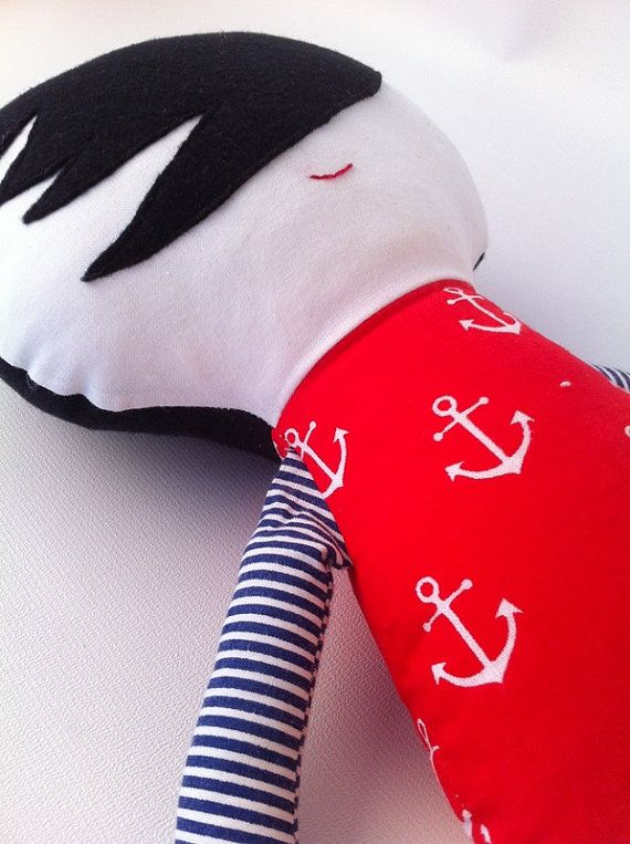 Sailor chap Boy rag doll best gift for girls and boys by HolaLotta