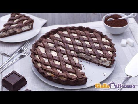 Crostata al cacao con crema alla ricotta e cioccolato - YouTube