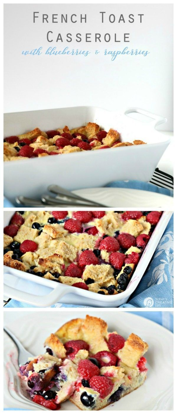 French Toast Casserole | This Mixed Berry Baked French Toast Casserole Recipe is perfect for breakfast or brunch ideas. Make the night before or the morning of. Click the photo for the recipe! #sponsored #ad TodaysCreativeLife.com
