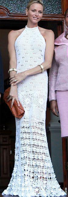 Crochetemoda: Charlene Wittstock vestido crochet