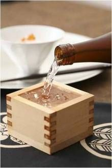 Japanese Sake (i love the wooden box)